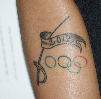 2012 Olympic Tattoo On Arm