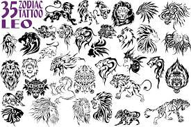 35 Leo Zodiac Symbol Tattoo Designs