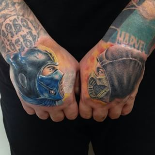 Video Game Hand Tattoo