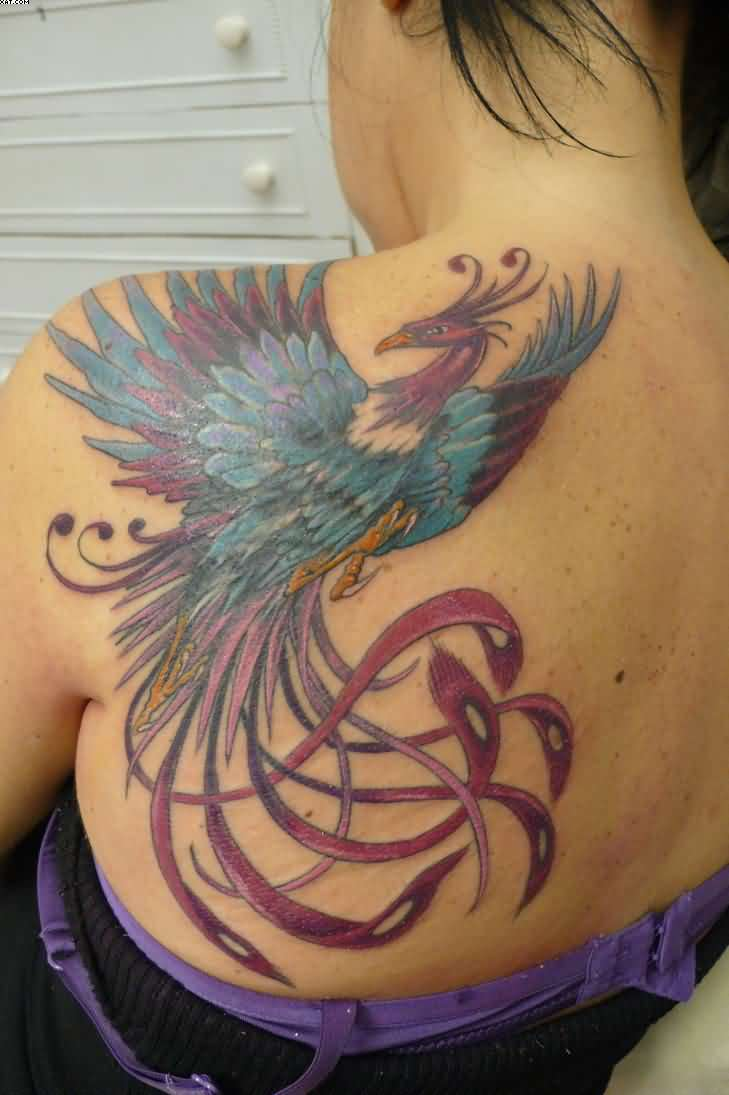 A Very Lovely Phoenix Tattoo For Women