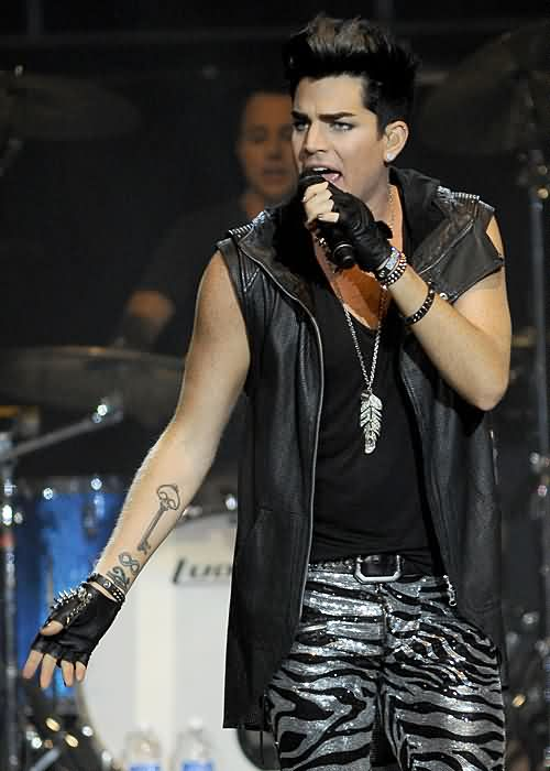 Adam Lambert's Left Forearm Tattoo