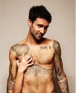 Adam Levine's Grey Body Tattoos