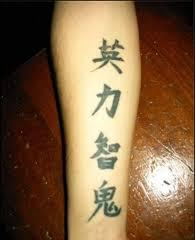 Again Chinese Symbol Tattoos On Forearm