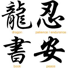 Again Chinese Symbol Tattoos Set