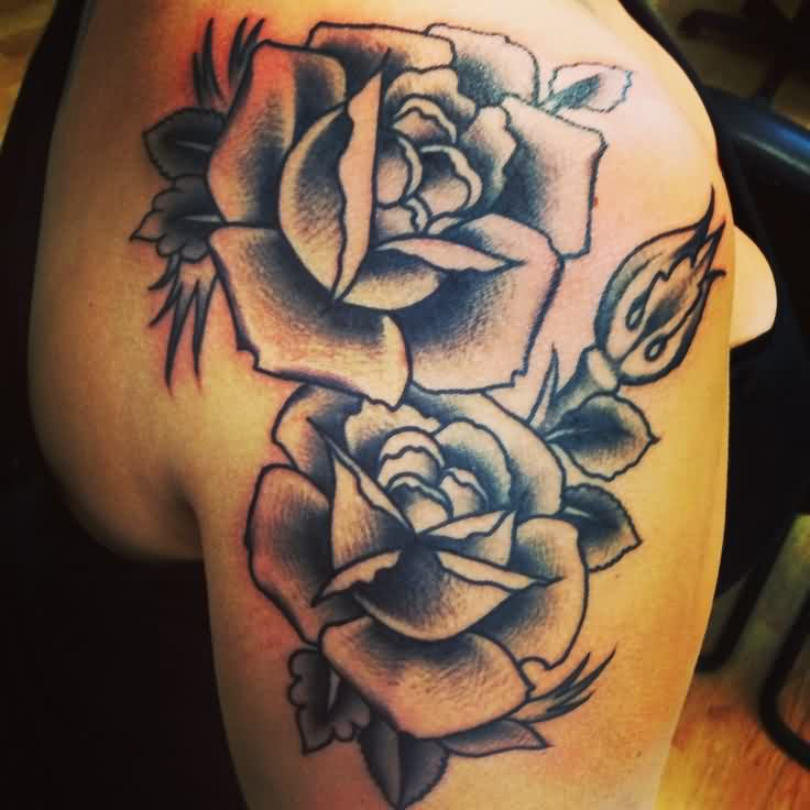 Again Roses Tattoos