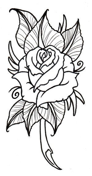 Again The Rose Tattoo Design