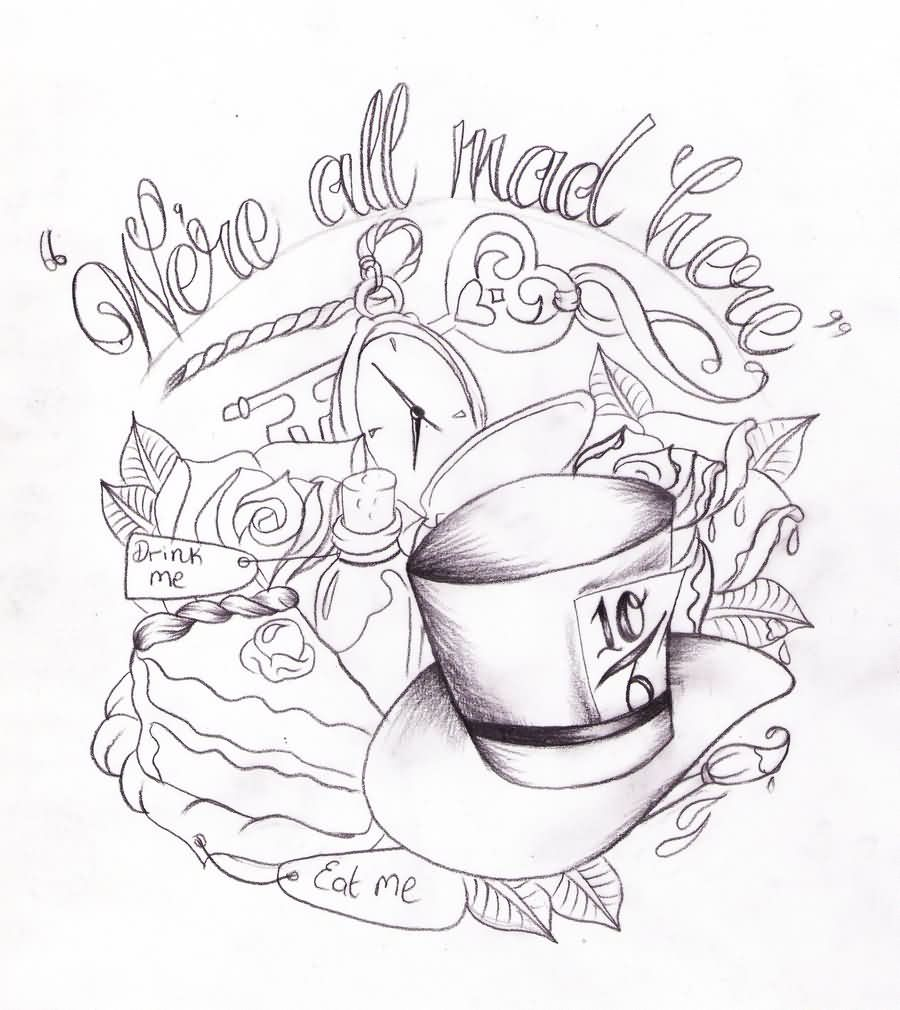 Alice In Wonderland Tat Sketch