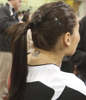 Alicia Sacramone's Olympic Logo Tattoo