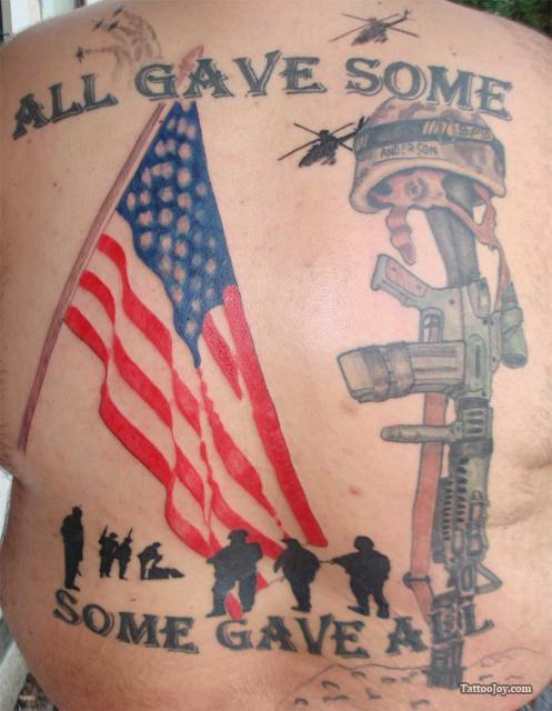 All Gave Some Some Gave All Patriotic Tattoos On Back