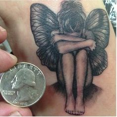 Alone Sad Angel Tattoo