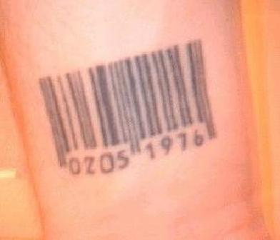 Amazing Barcode Tattoo
