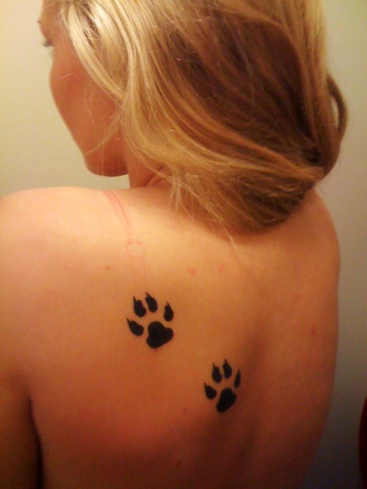 Amazing Black Pawprint Tattoos