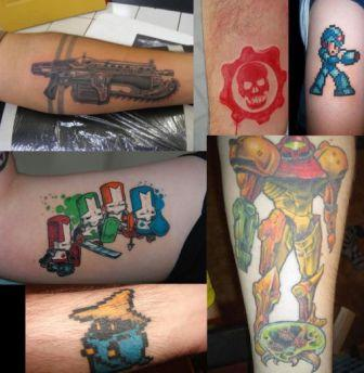 Amazing Colorful Video Game Tattoo Pics