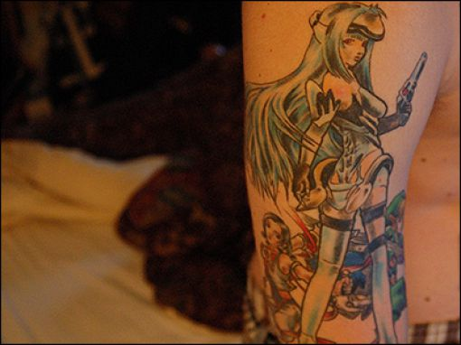 Amazing Geeky Video Game Tattoos On Arm