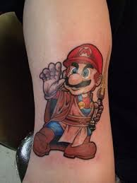Amazing Mario Tattoo For Arm