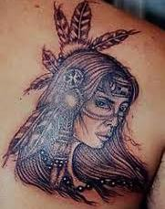 Amazing Native American Woman Tattoo