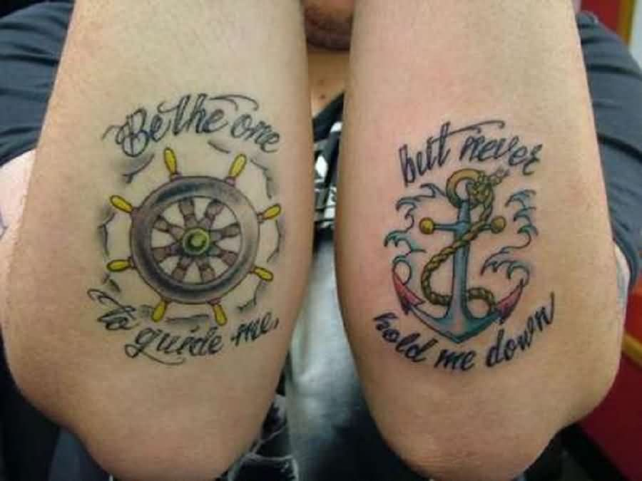 Amazing Nautical Tattoos On Both Arms