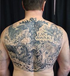 Amazing Tattoos On Backbody