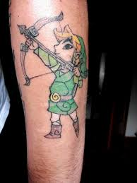 Amazing Video Game Archer Tattoo
