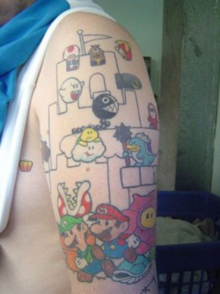 Amazing Video Game Character Tattoos On Arm