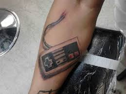 Amazing Video Game Controller Tattoo On Arm