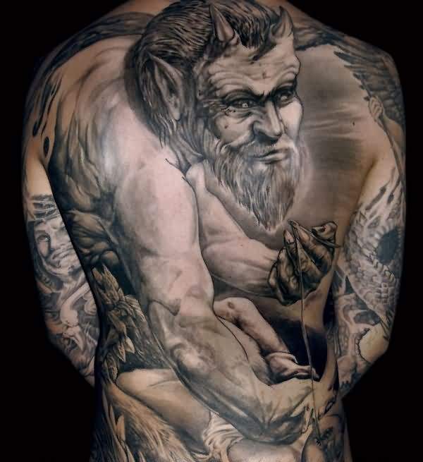 Amazing Whole Back Tattoos For Men