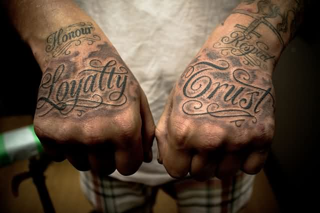 Amazing Word Tattoos On Hands