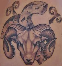 Amazing Zodiac Aries Symbol Tattoos