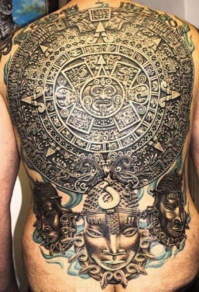 Ancient Tattoos On Backbody