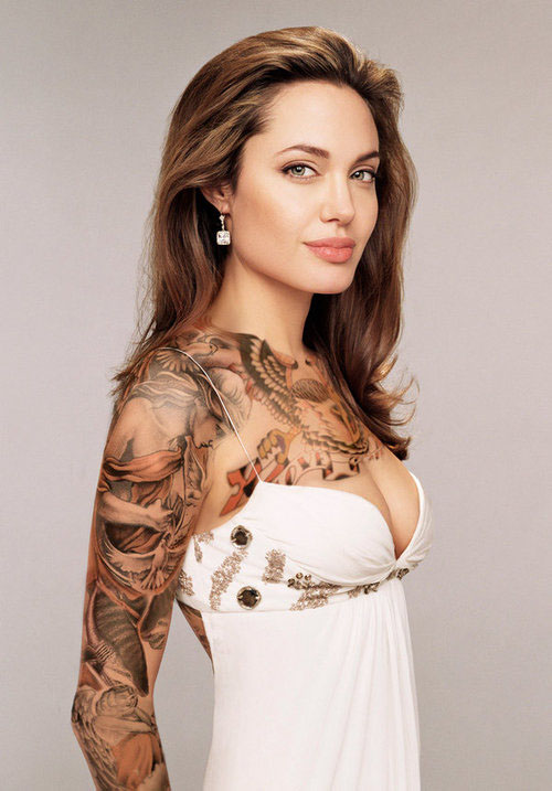 Angelina's Sleeve Tattoos