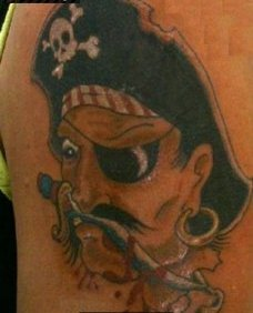Angry Pirate Tattoo