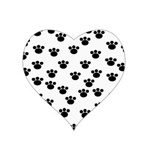 Animal Paw Print Heart Tattoo Design