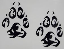 Animal Paw Print Tribal Tattoo Designs