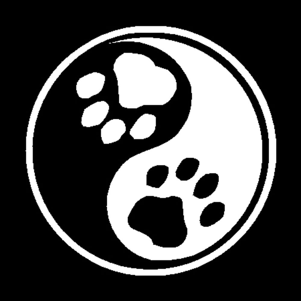 Animal Paw Yin Yang Tattoo Graphic