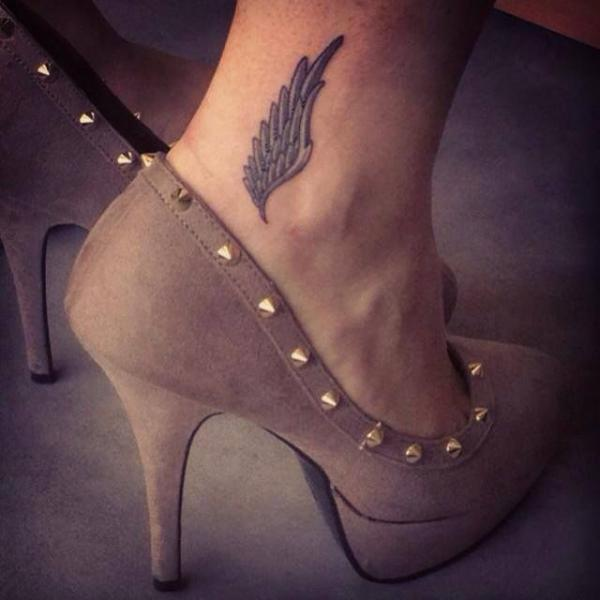 Ankle Tattoo Of Wing