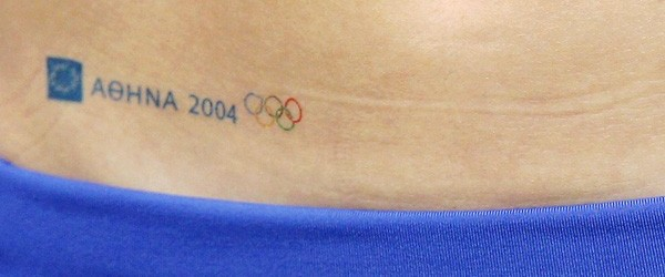 Aohna Olympic Tattoo On Hip