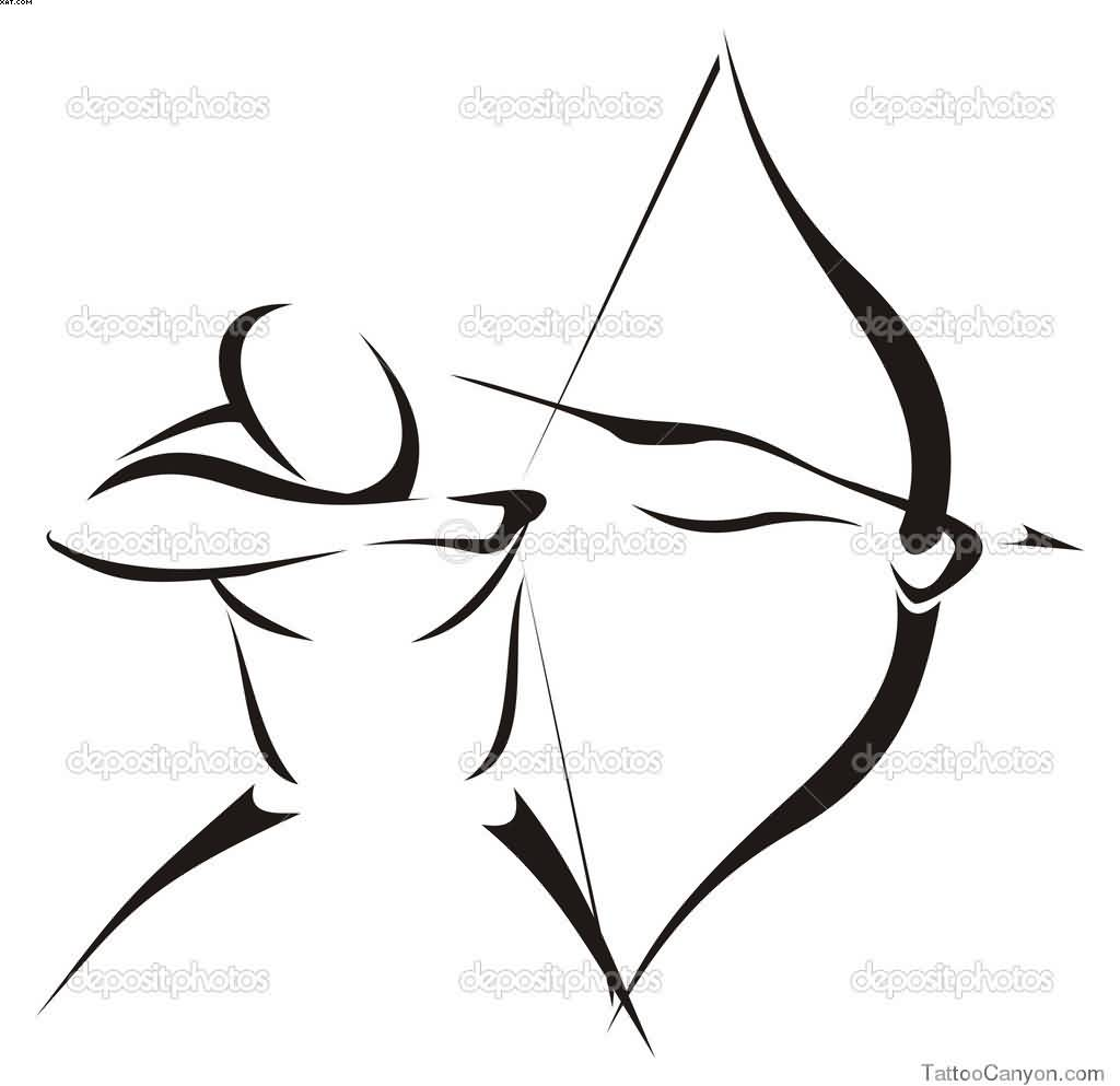 Archer Sagittarius Tattoo Version