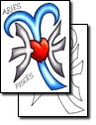 Aries And Pisces Heart Together Tattoo Design