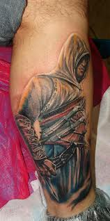 Assassin Tattoo For Leg