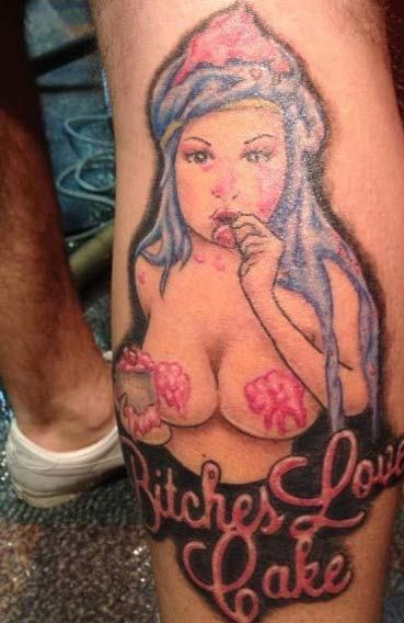 Awful Leg Tattoo