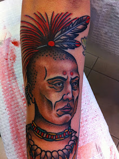 Bald Native American Tattoo