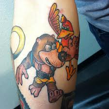 Banjo Kazooie Tattoos On Arm