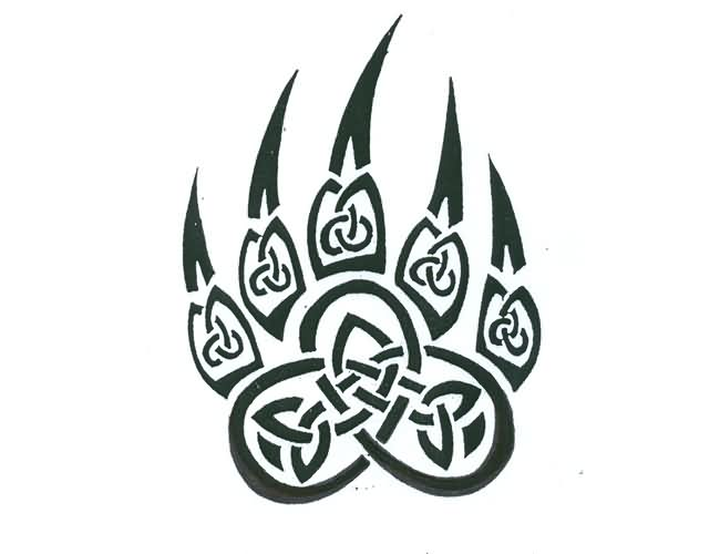 Bear Claw Tribal Celtic Tattoo Design