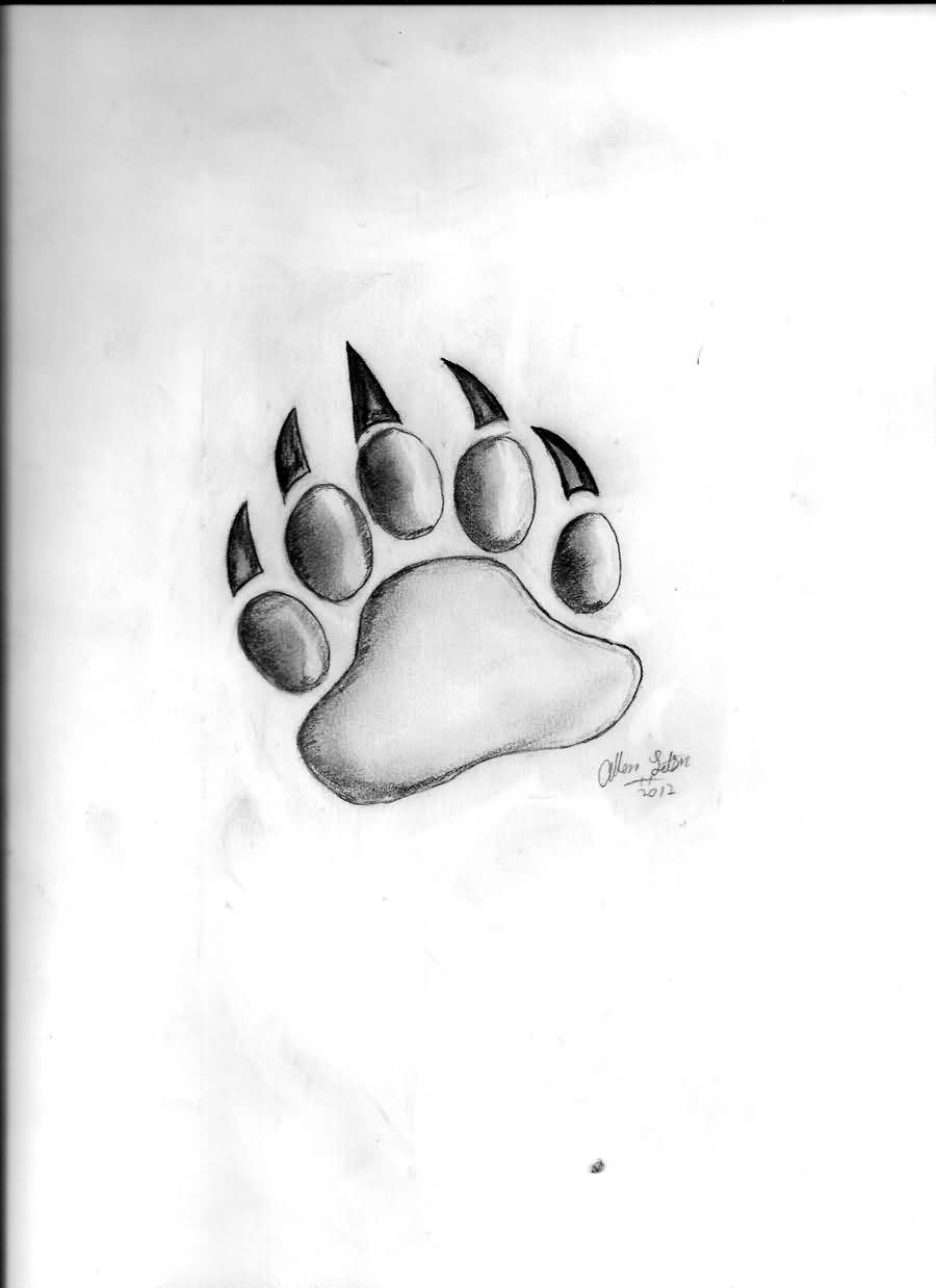 Bear Paw Tattoo Sketch