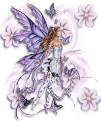 Beautiful Fairy Flowers Tattoo Design