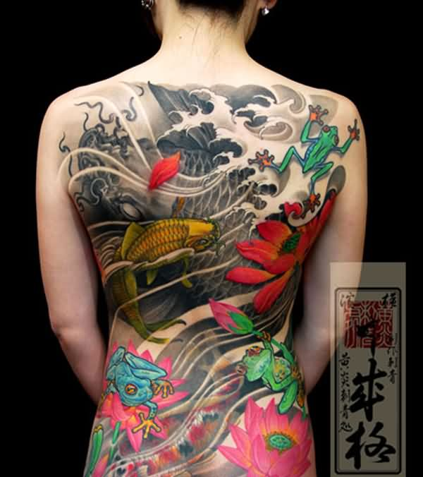 Beautiful Japanese Tattoos On Whole Back