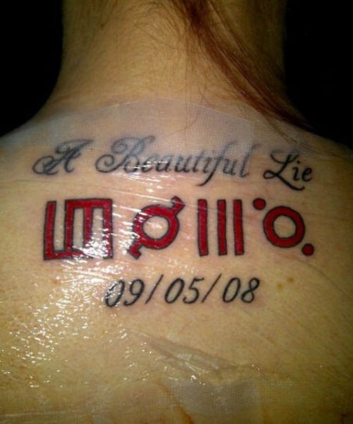 Beautiful Lie - Symbol Tattoos