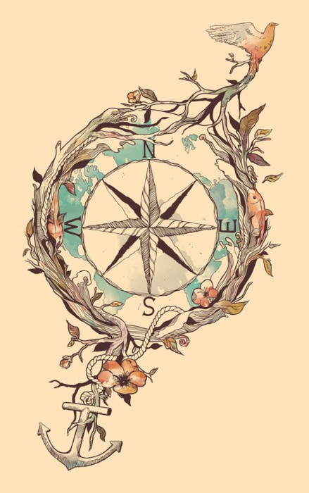 Beautiful Nautical Tattoo Poster