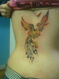 Beautiful Phoenix Tattoo Specially For Girls
