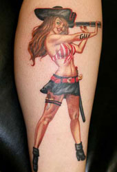 Beautiful Pirate Pin Up Tattoo